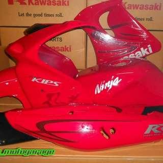Coverset Kawasaki RR150 Kanji Merah