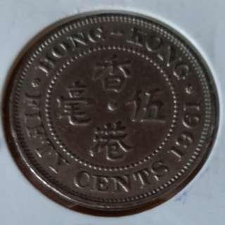 1961年银色五毫靓品