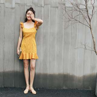 [PO] Yellow Summer Mermaid Dress
