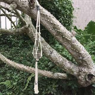 Macrame Plant Hanger (Blue) 編織盆栽吊飾掛籃