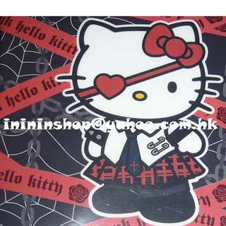 全新購自日本 Hello Kitty POUR LOLITA PUNK EDITION 黑色FILE連簿 前後均有圖案