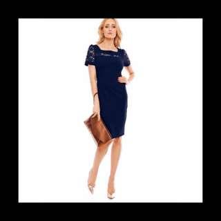 Lace- Chiffon Formal Dress