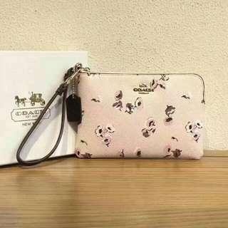 💯Coach Light Floral Series Wristlet with Box