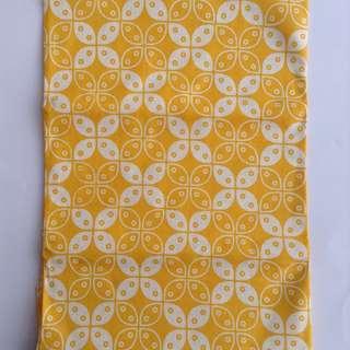 Kain Batik Pastel Kuning Motif Kawung