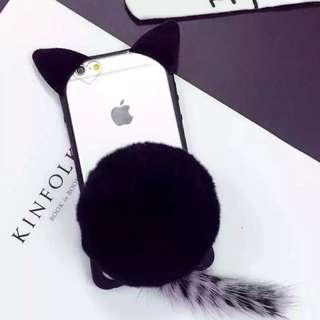 Black Furcat Iphone case