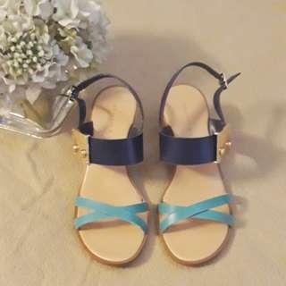 Charles & Keith 2-Toned Block Heel Sandals