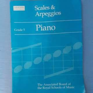 ABRSM Scales & Arpeggios Grade 5 Piano