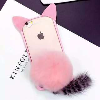 Pink Furcat Iphone case