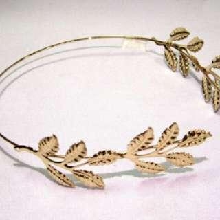 Gold Leaf Headress Headband