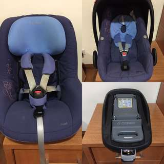Maxi Cosi Pearl + Pebble Baby Car Seat + isofix