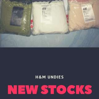 3 for 250 ORIGINAL H&M UNDIES