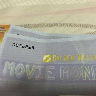 GV movie money x2 *$24 for 2 tickets*