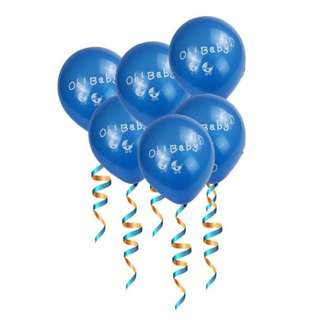 🌈 Baby Shower baby full month party supplies - Oh Baby balloons