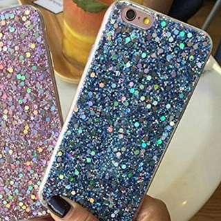 Blue Glitter Iphone case