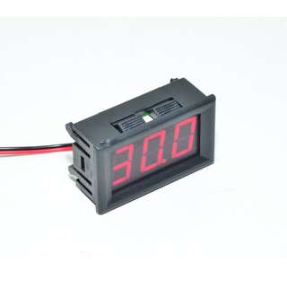 Panel mounted digital voltage meter DSN-DVM-568HV with 3-digit red LED display, measure 5V-120 V DC