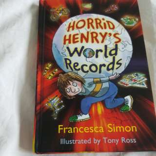 Horrid Henry world records hardcover