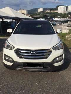 SAMBUNG BAYAR/CONTINUE LOAN  HYUNDAI SANTA FE 2.0 AUTO  YEAR 2014 MONTHLY RM 1850 BALANCE 4 YEARS + LEATHER SEAT TIPTOP CONDITION  DP KLIK wasap.my/60133524312/santafe