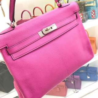 Hermes Kelly 32 5J 桃粉色 🌈