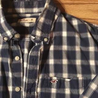 🔥💯👌👔 authentic hollister button front shirt