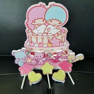 little twins star cake topper