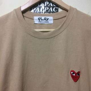Ts CDG 'play' logo ❤️ pocket sz M fit L made in Japan