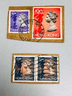 香港皇冠頭郵票「共四個」