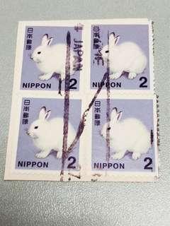 日本郵票「共四個」