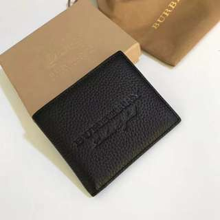 Burberry London Wallet Purse 黑色短款真皮銀包