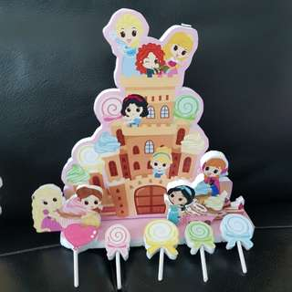 disney princess cake topper