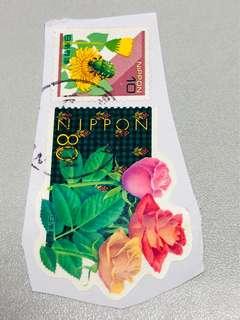日本郵票「共兩個」