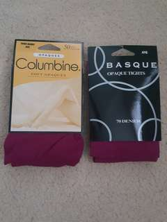 Hosiery. Berry colour. Size AVE
