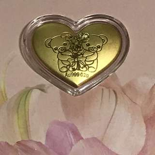 CLEARANCE SALES {Collectibles Item - Pure Gold} 金是永恆999(24K) 0.2g Pure Gold 純金时代 Citigems - EVERYDAY IS A GIFT OF LOVE WITH YOU
