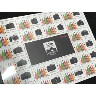 珍藏 100%New CANON 50年紀念版郵票