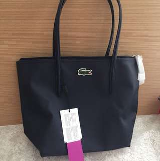Lacoste tote bag (dark blue)