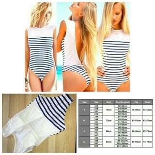 Stripes onesie swimwear