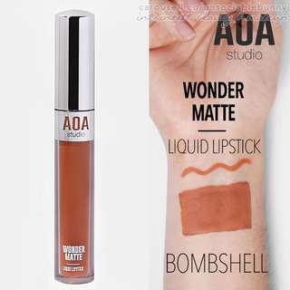 Bombshell Matte Liquid Lipstick Vegan US Cruelty-free Cosmetic Nude Makeup AOA Studio