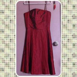 Maroon Red Formal Dress