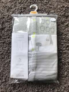 NEW Mothercare Footless Sleepsuits 9-12m