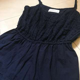 A&F navy lace romper
