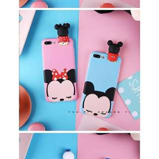 Iphone 6, 6s, 6plus, 7, 7plus case / casing mickey and minnie