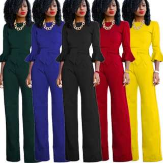 Jumpsuits in colors