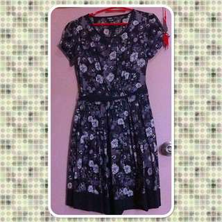 Black Flower KRIZIA Dress