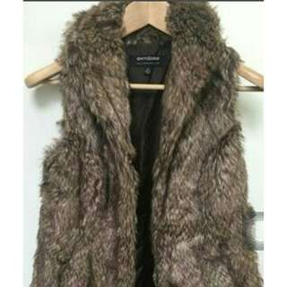 mollie&mommy fur brown coat