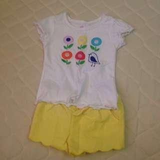 Summer shirt and shorts / gingersnaps (bundle)