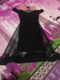 Dress sabrina black tile