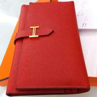 Hermes Bearn Wallet gold hardware (愛馬仕H金扣三折銀包)
