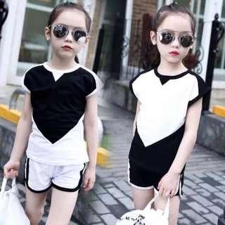 Kid's Wear Heart Top & Shorts Terno