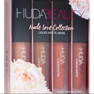 Huda Beauty 4 Pcs Mini Liquid Lipsticks Set