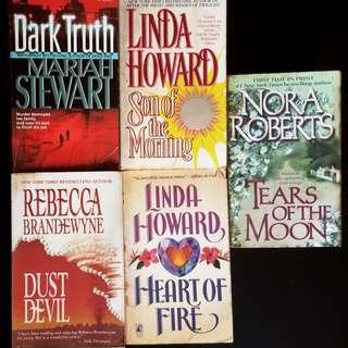 Old romance books (5 items)
