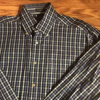 🔥💯👌👔 authentic tommy hilfiger button down
